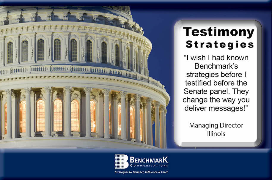 Testimony Coaching US capitol