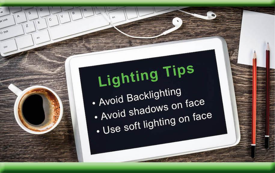 iPad virtual meeting lighting tips